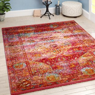 Lonerock Red Area Rug by Bungalow Rose