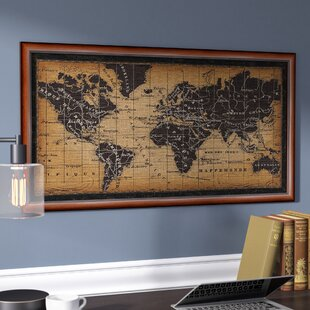 Frameable World Map.Old World Map Wall Art Wayfair