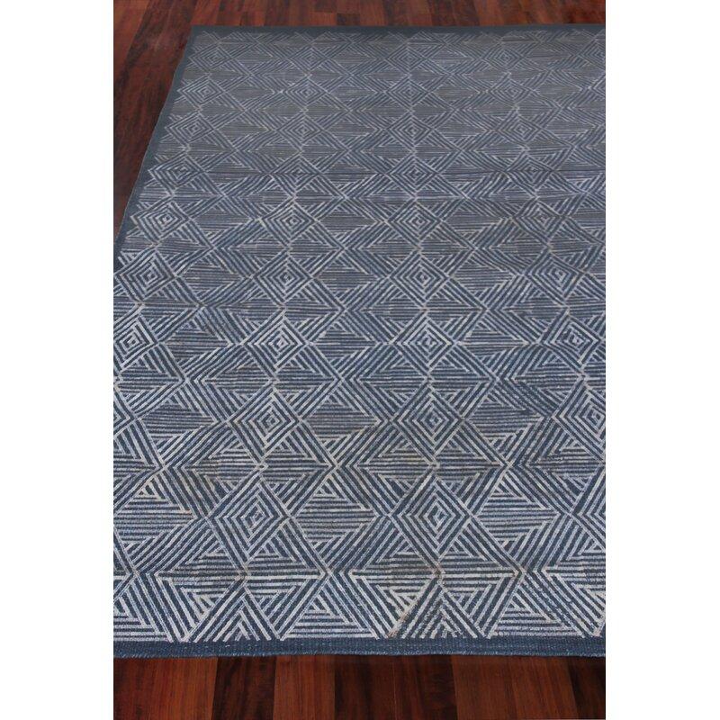 Pavillion Hand Woven Wool Navy Area Rug