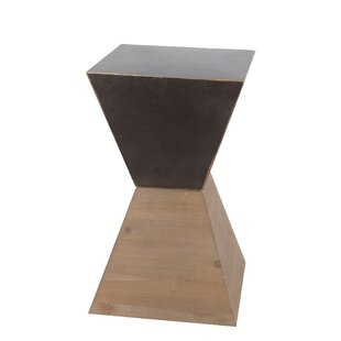 Rei Small Wood Iron End Table by Ivy Bronx