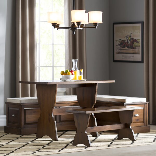 Three Posts Dearborn 3 Piece Nook Dining Set U0026 Reviews | Wayfair