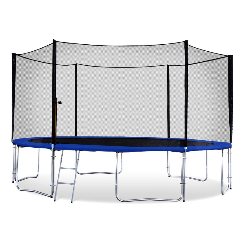 Exacme 13' Round Backyard Trampoline with Safety Enclosure ...