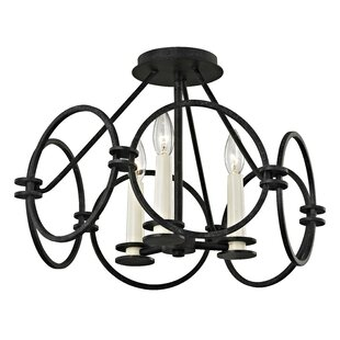 Gracie Oaks Margarito 3-Light Semi Flush Mount