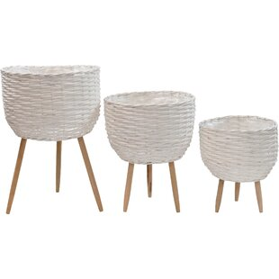 Scandi Wicker 3 Piece Basket Set By Isabelline