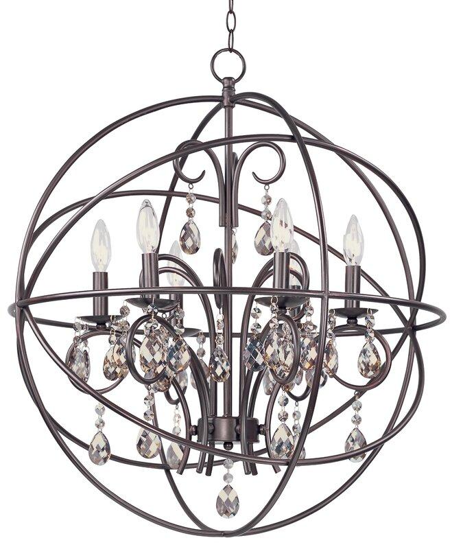 Willa arlo interiors alden 6 light candle style chandelier alden 6 light candle style chandelier mozeypictures Choice Image