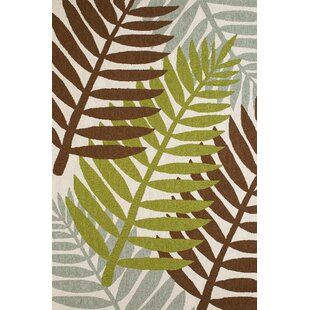 Sunbelt Hand-Woven Lime/Brown Indoor/Outdoor Area Rug