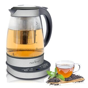 2 in 1 Glass Electric Tea Kettle