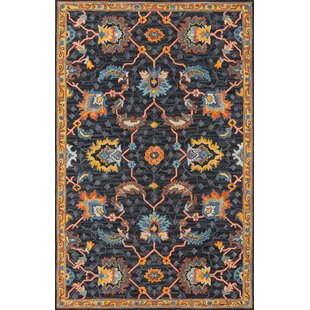 Lancaster Hand-Tufted Wool Charcoal Area Rug by World Menagerie