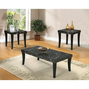 Louvenia 3 Piece Coffee Table Set