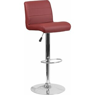 Whelan Mid Back Adjustable Height Swivel Bar Stool by Orren Ellis 2019 Sale