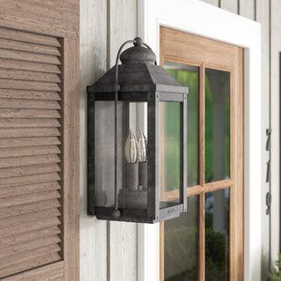 August Grove Dulcie 2-Light Outdoor Flush Mount