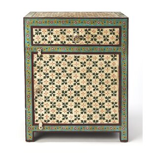 Genevre Hand Painted 1 Drawer Nightstand by World Menagerie
