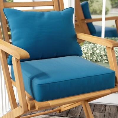 2 Piece Indoor/Outdoor Sunbrella Chair Cushion Set