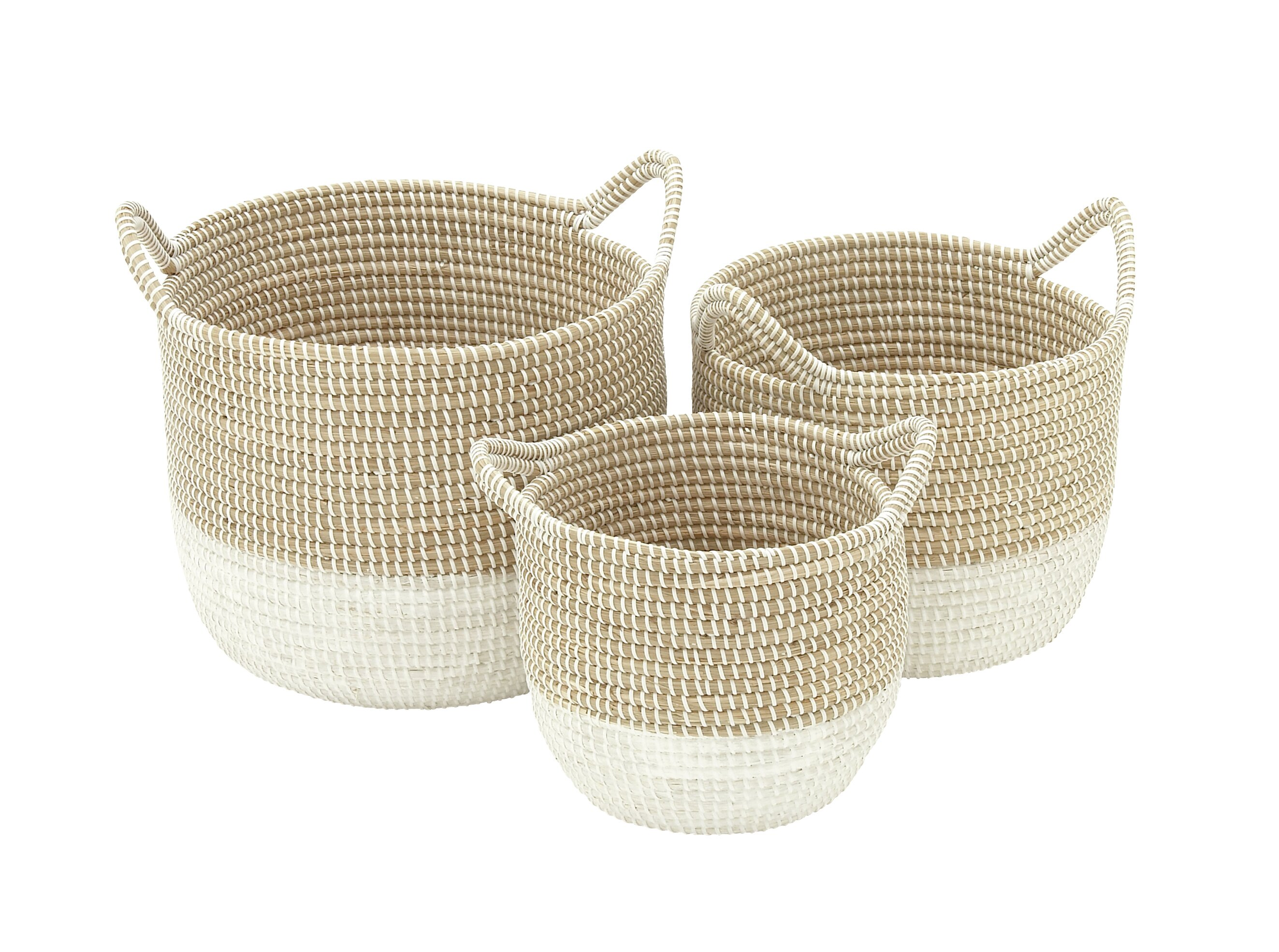 3 Piece Seagrass Basket Set Reviews Allmodern