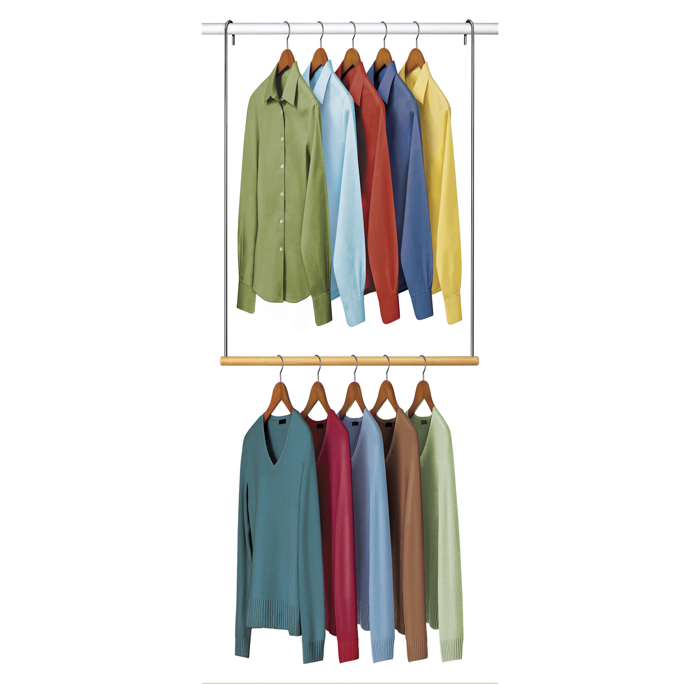 double organize and rod shelf hang it hanging asp brackets rods price up closet