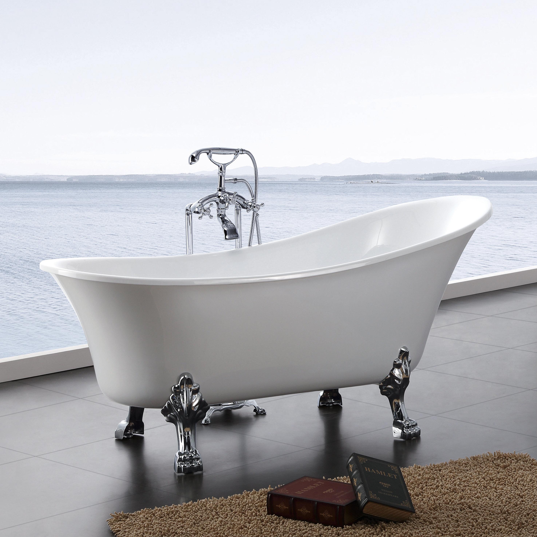 products inches freestanding soaking bai megabai acrylic bathtub