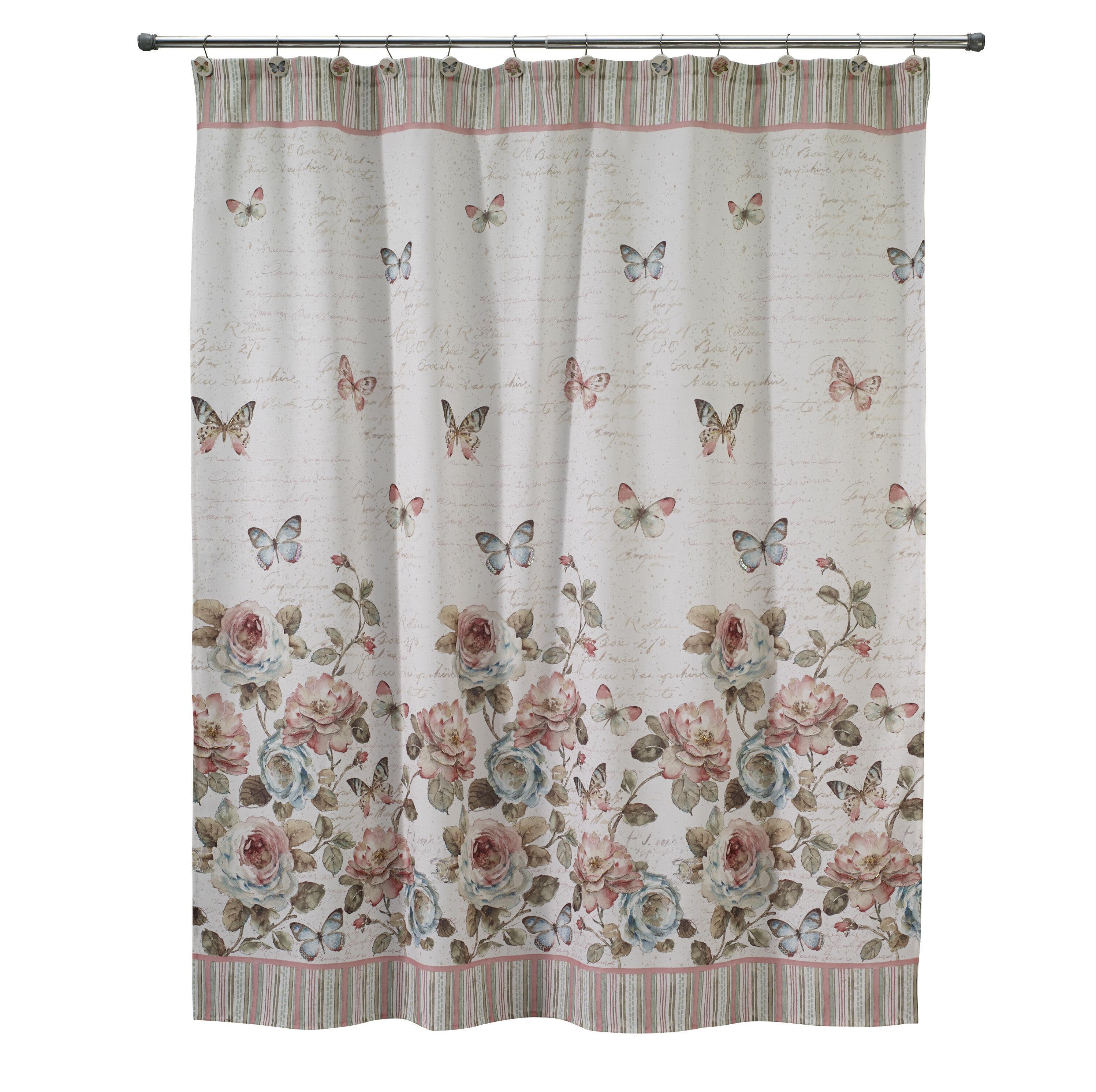 August Grove Butterfly Single Shower Curtain Reviews Wayfair