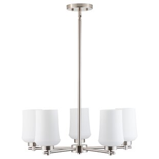 Lafountain 5-Light Shaded Chandelier by House of Hampton