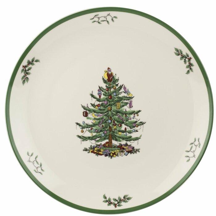 Spode Christmas Plates.Spode Christmas Tree Round Platter