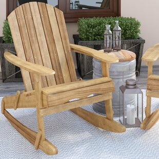 Stamm Solid Wood Rocking Adirondack Chair