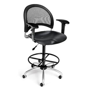 Stars and Moon Mid-Back Drafting Chair by OFM