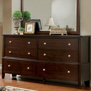 Darby Home Co Allena 6 Drawer Double Dresser with Mirror Image