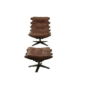Demartini Swivel Lounge Chair and Ottoman