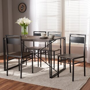 Mizell 5 Piece Dining Set by Williston Forge