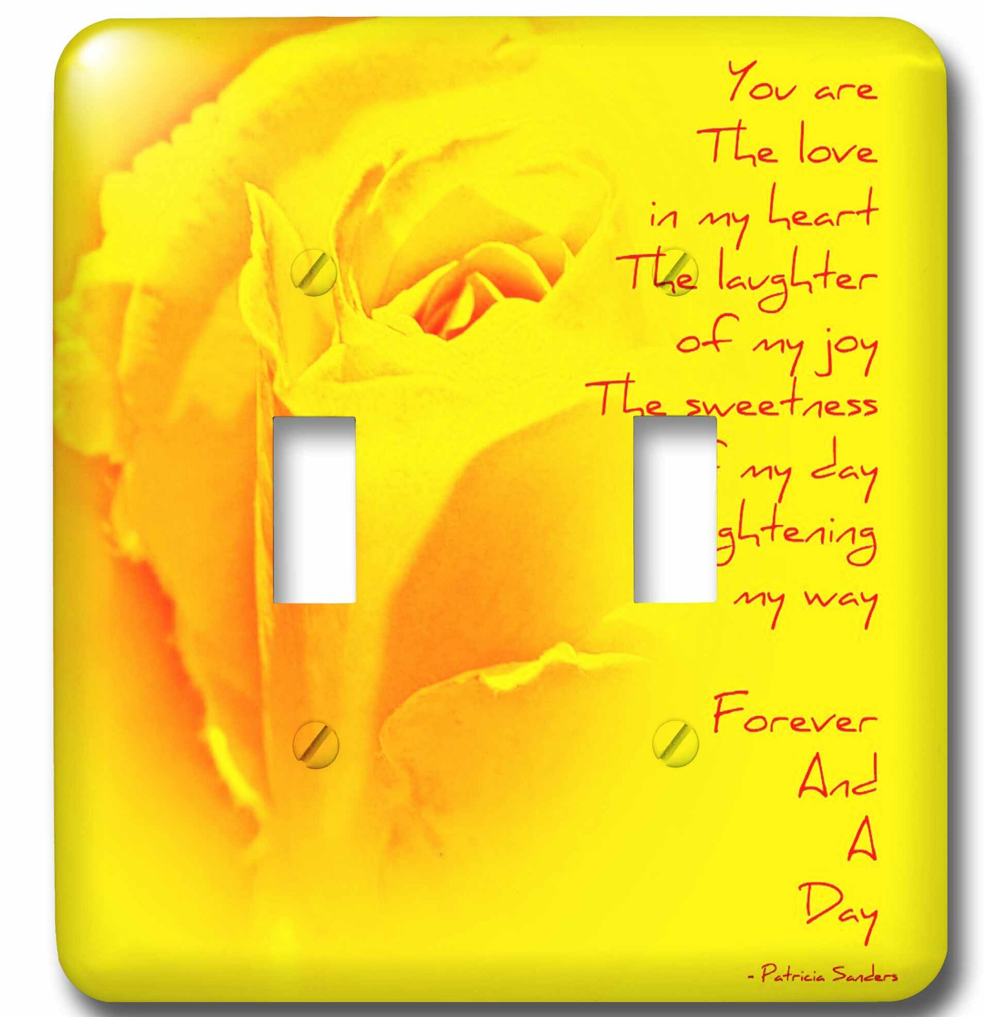 3drose Rose Forever And A Day Poem 2 Gang Toggle Light Switch Wall Plate Wayfair