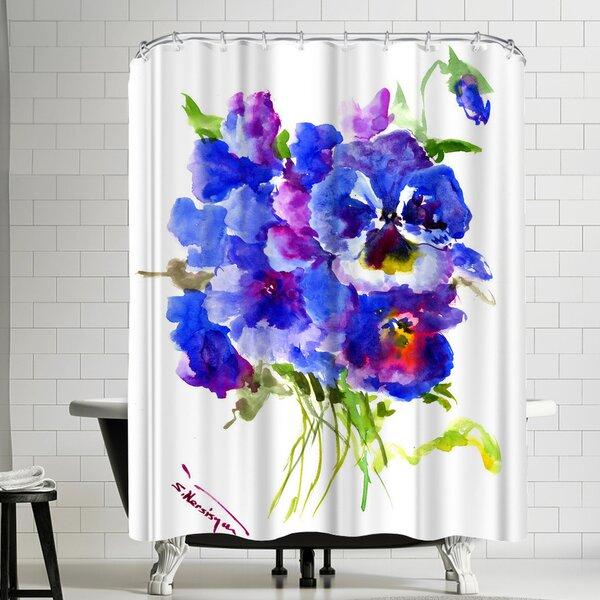 East Urban Home Suren Nersisyan Pansies Single Shower Curtain Wayfair