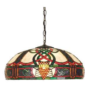 Meyda Tiffany Art Glass 3-Light Bowl Pendant