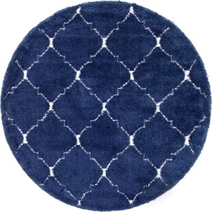 Box Navy Blue Area Rug by House of Hampton