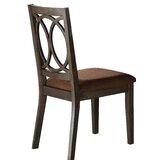 Deloris Fabirc Queen Anne Back Side Chair in Brown (Set of 2) by Red Barrel Studio®