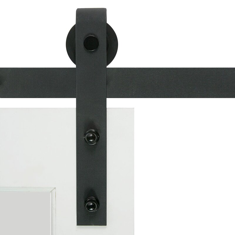Bent Strap Flat Track Barn Door Hardware Kit