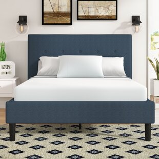 Wrought Studio Roye Button Detailed Upholstered Platform Bed