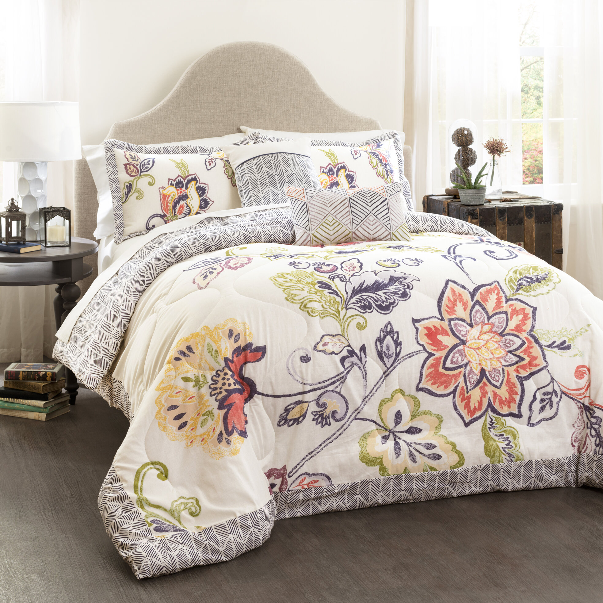 down club full cover comforter queen level dot damask charter