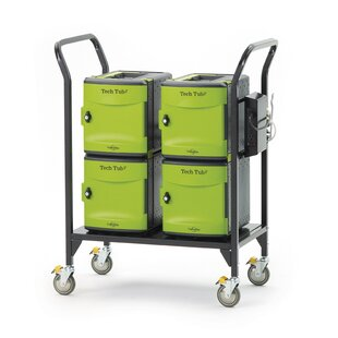 Tech Tub2? 24-Compartment Laptop Storage Cart by Copernicus