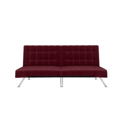 Turn on the Brights Crandon Velvet Convertible Sofa Color: Burgundy