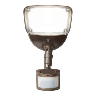 Small-Head 17-Watt LED Outdoor Security Flood Light with Motion Sensor by Cooper Lighting LLC