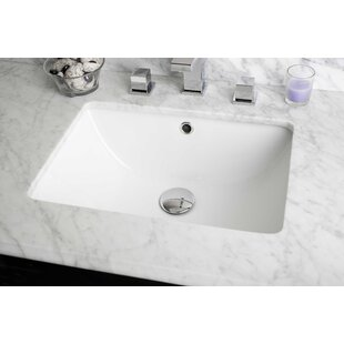 Compare Ceramic Rectangular Undermount Bathroom Sink with Overflow By Royal Purple Bath Kitchen