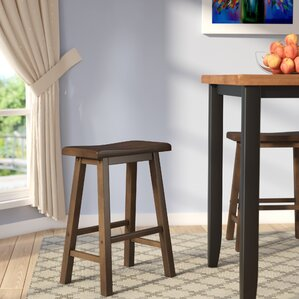 Bates 24  Wood Bar Stool (Set ... & Backless Bar Stools Youu0027ll Love | Wayfair islam-shia.org