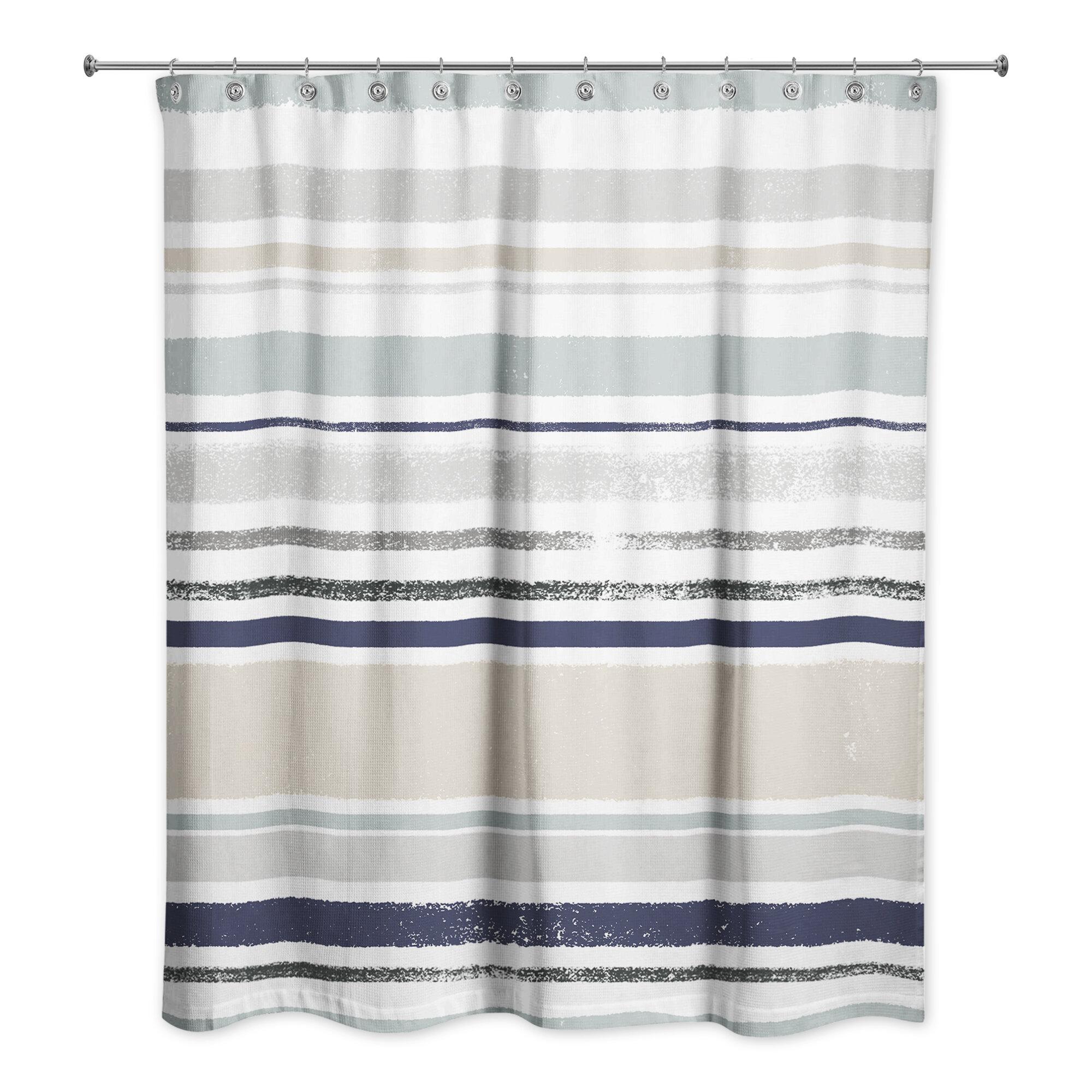 Rosecliff Heights Stenberg Striped Single Shower Curtain Wayfair