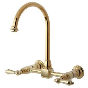 Kingston Brass Restoration Double Handle Kitchen Faucet