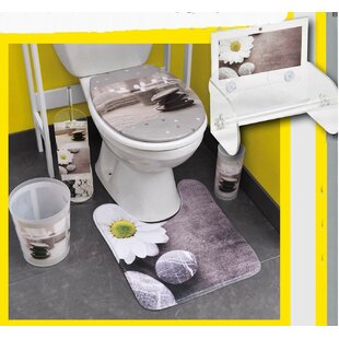 Evideco Zen Garden Printed Duroplast Oval Toilet Seat Decal