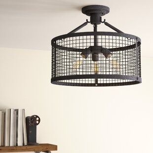 Lorne 3-Light Semi Flush Mount by 17 Stories