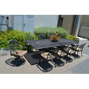 Kristy 11 Piece Dining Set with Cushion