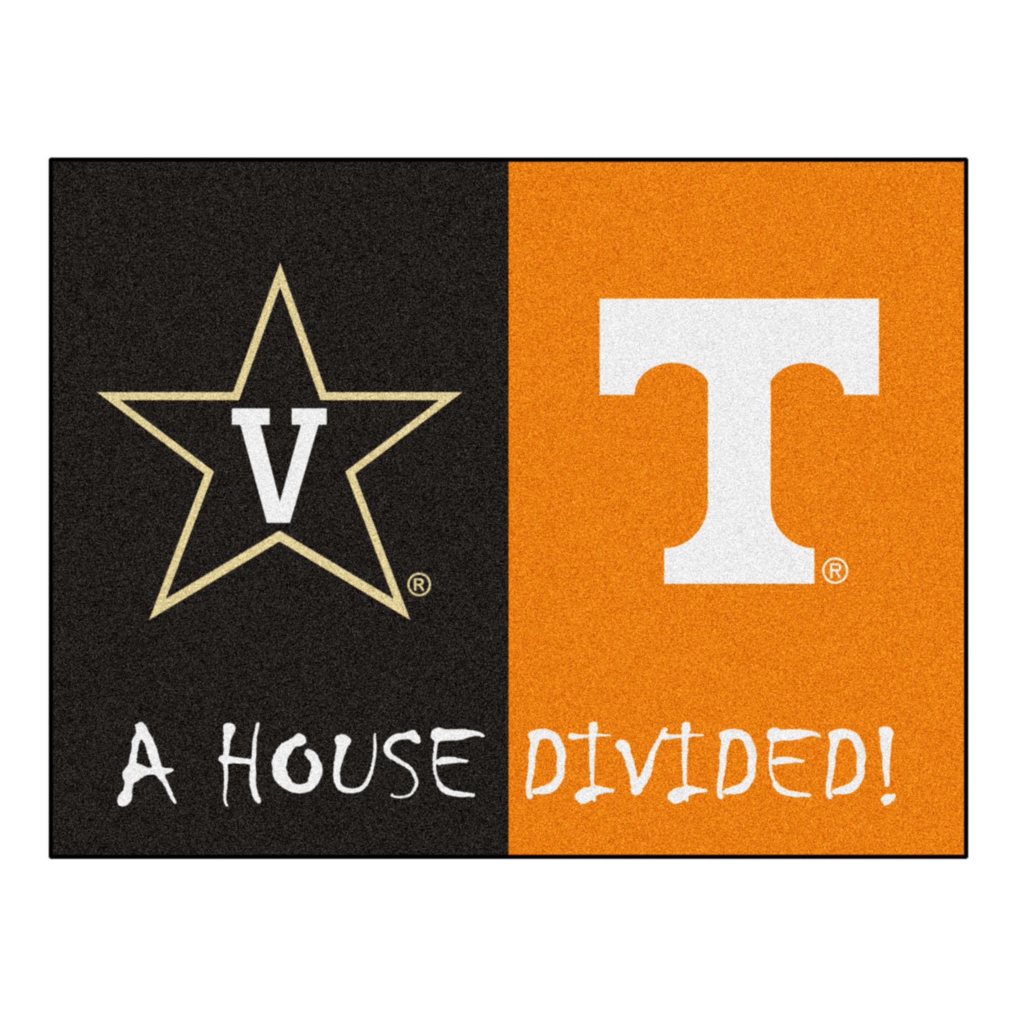 Fanmats House Divided Vanderbilt Tenneessee 42 5 In X 33 75 In Non Slip Indoor Only Door Mat Wayfair