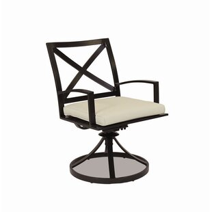 La Jolla Swivel Patio Dining Chair with Cushion Sunset West