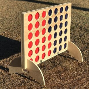 Giant Connect Four with Colored Disc Set by West Georgia Cornhole