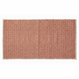 Tolliver Cotton Orange/Beige Rug by Bay Isle Home